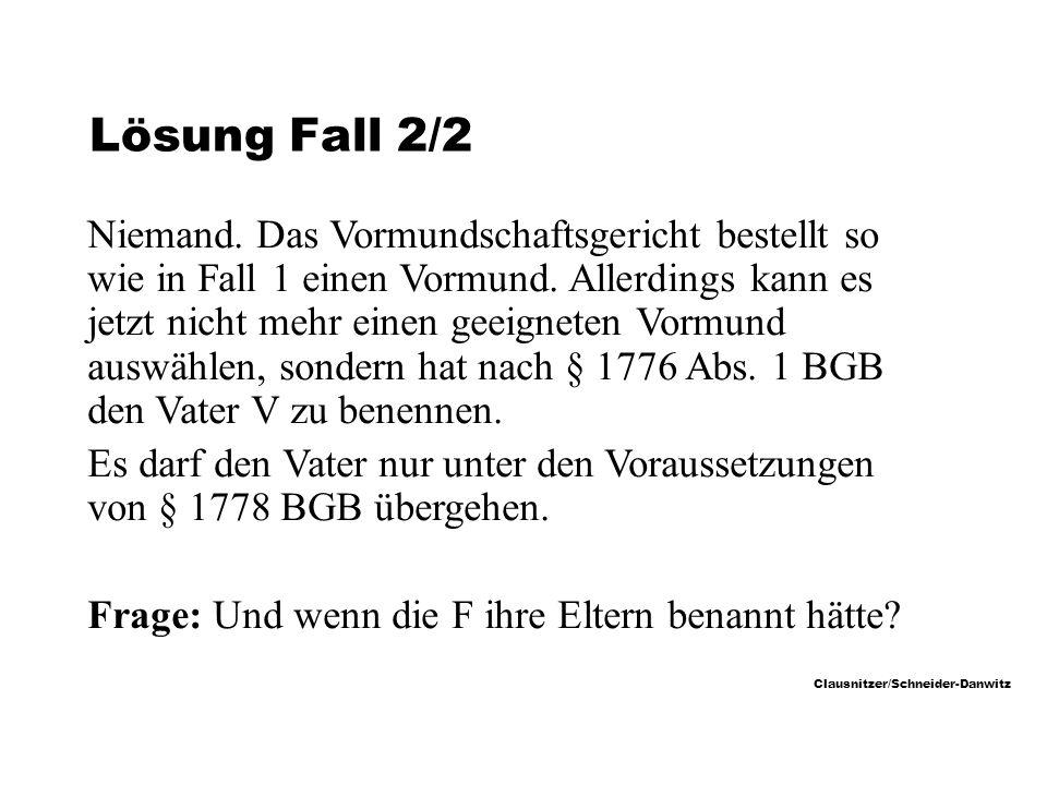 Lösung Fall 2/2