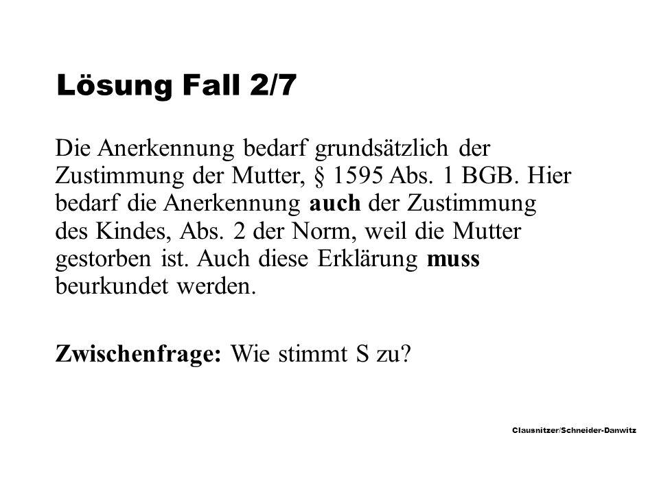 Lösung Fall 2/7
