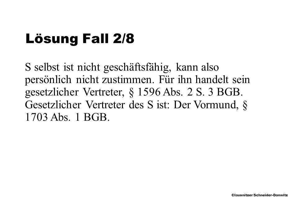 Lösung Fall 2/8
