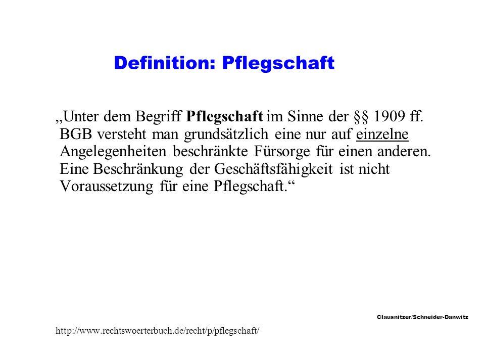 Definition: Pflegschaft