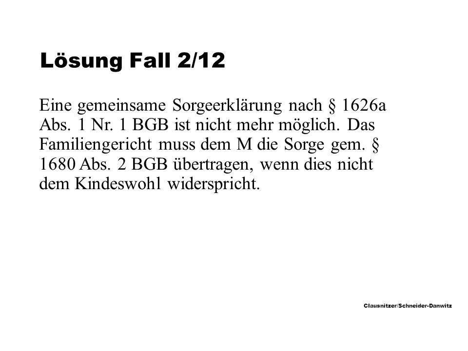 Lösung Fall 2/12