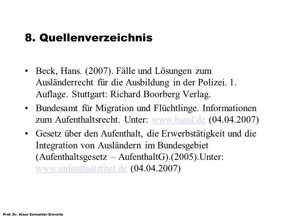 8. Quellenverzeichnis