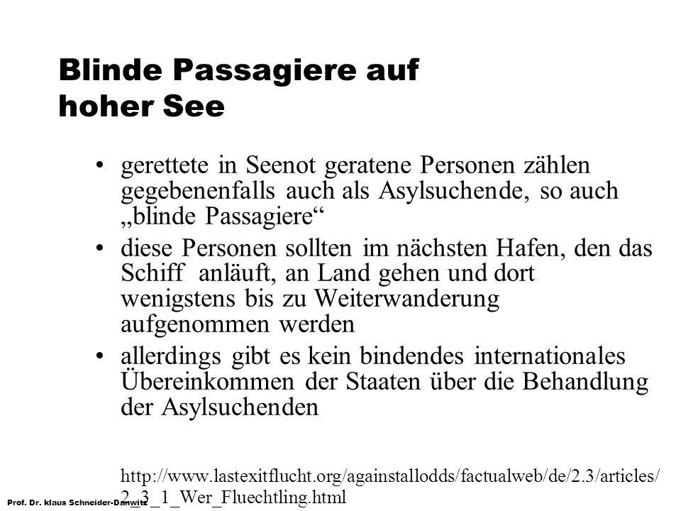 Blinde Passagiere auf hoher See