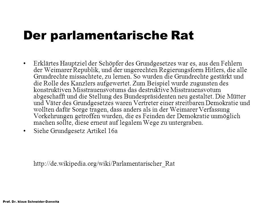 Der parlamentarische Rat