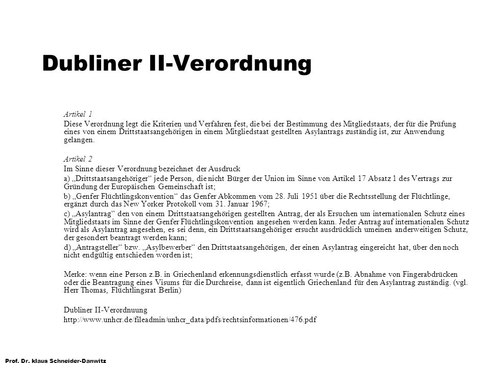 Dubliner II-Verordnung
