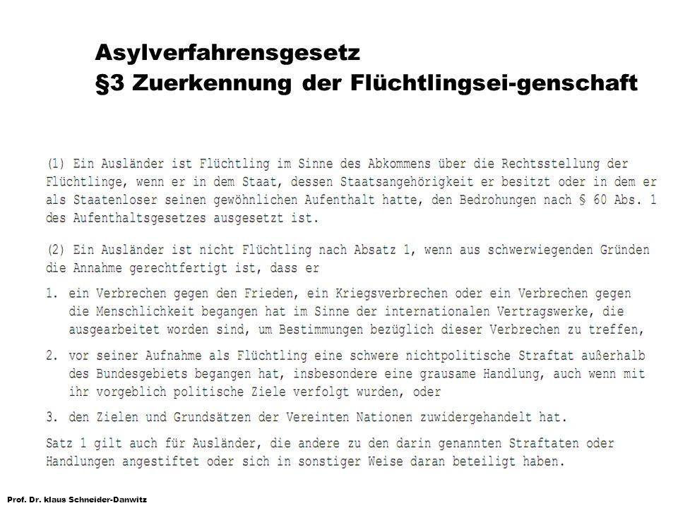 Asylverfahrensgesetz §3 Zuerkennung der Flüchtlingsei-genschaft