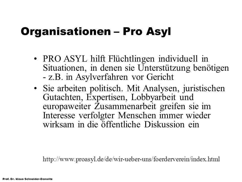 Organisationen – Pro Asyl