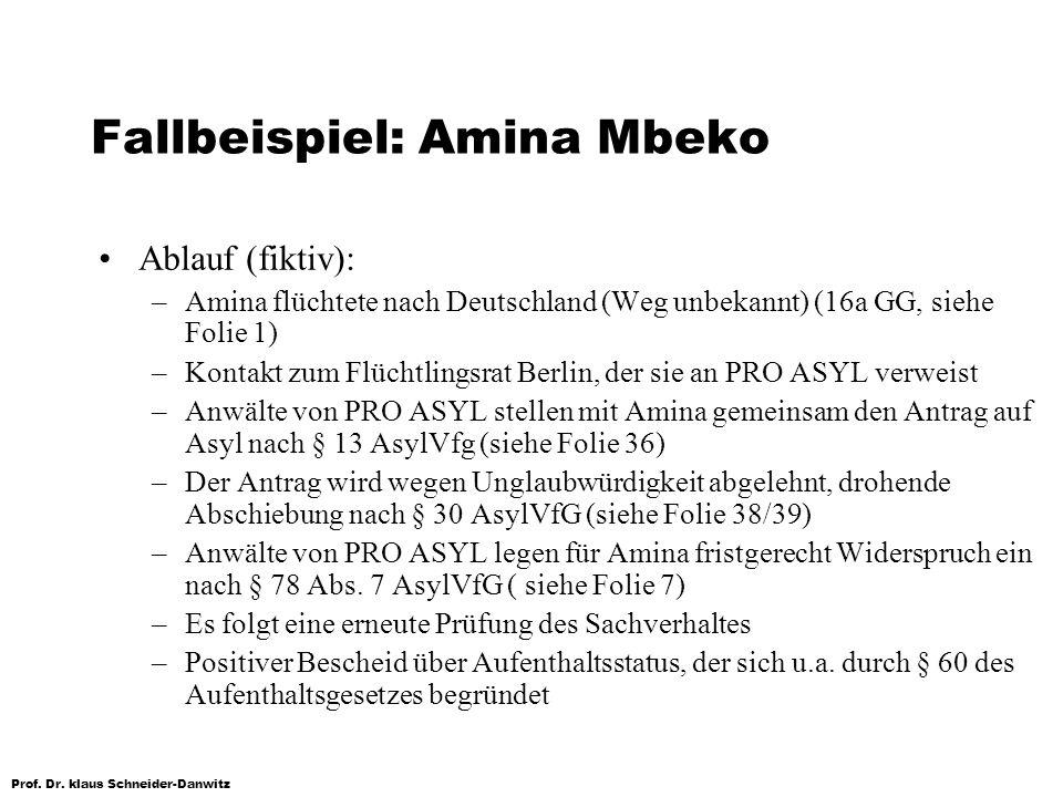 Fallbeispiel: Amina Mbeko