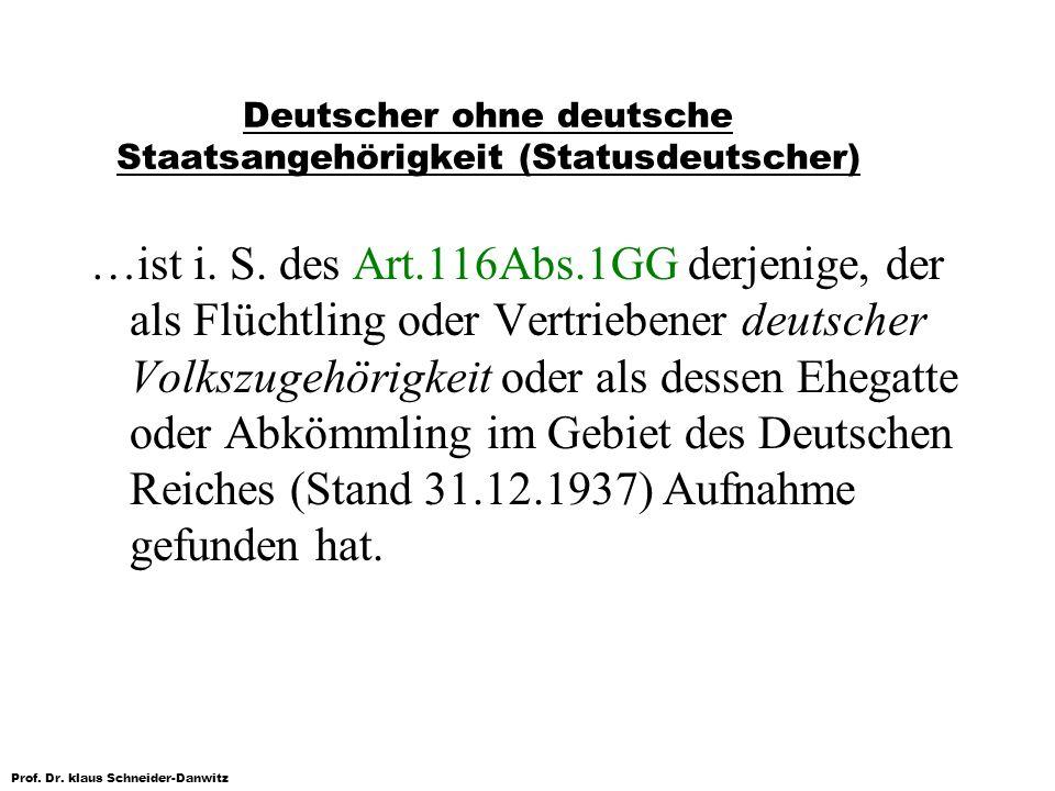 Deutscher ohne deutsche Staatsangehörigkeit (Statusdeutscher)