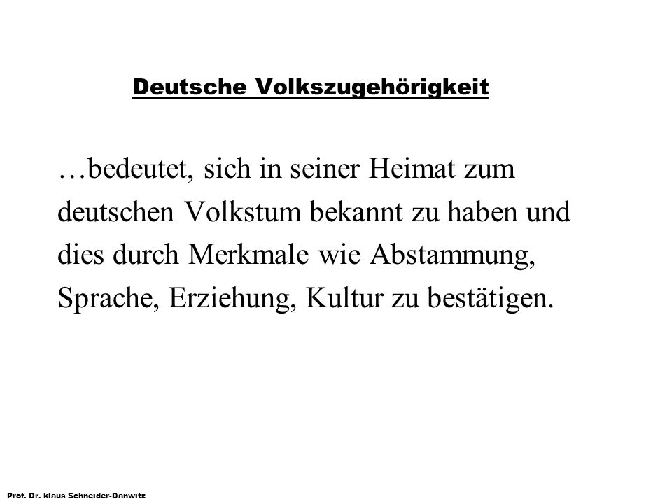 Deutsche Volkszugehörigkeit
