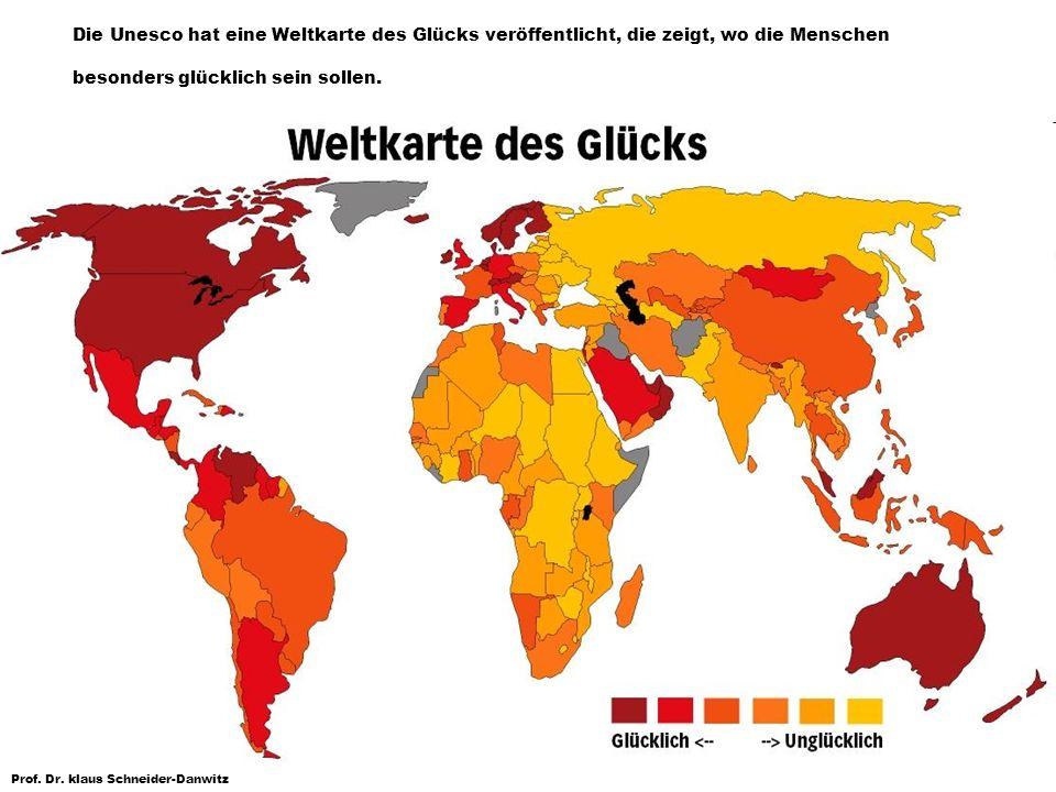 Die Unesco hat eine Weltkarte des Glücks veröffentlicht, die zeigt, wo die Menschen besonders glücklich sein sollen.
