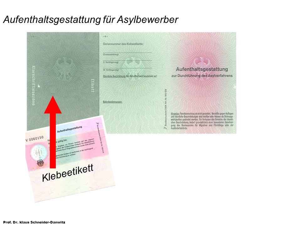 Aufenthaltsgestattung für Asylbewerber