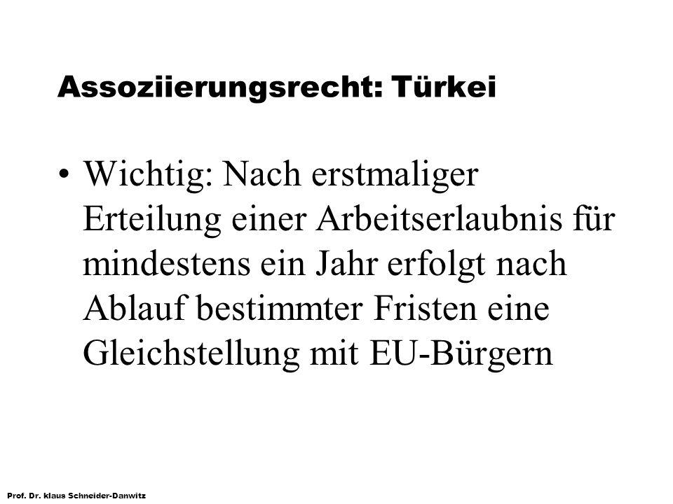 Assoziierungsrecht: Türkei
