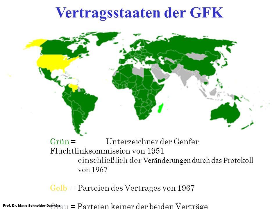 Vertragsstaaten der GFK