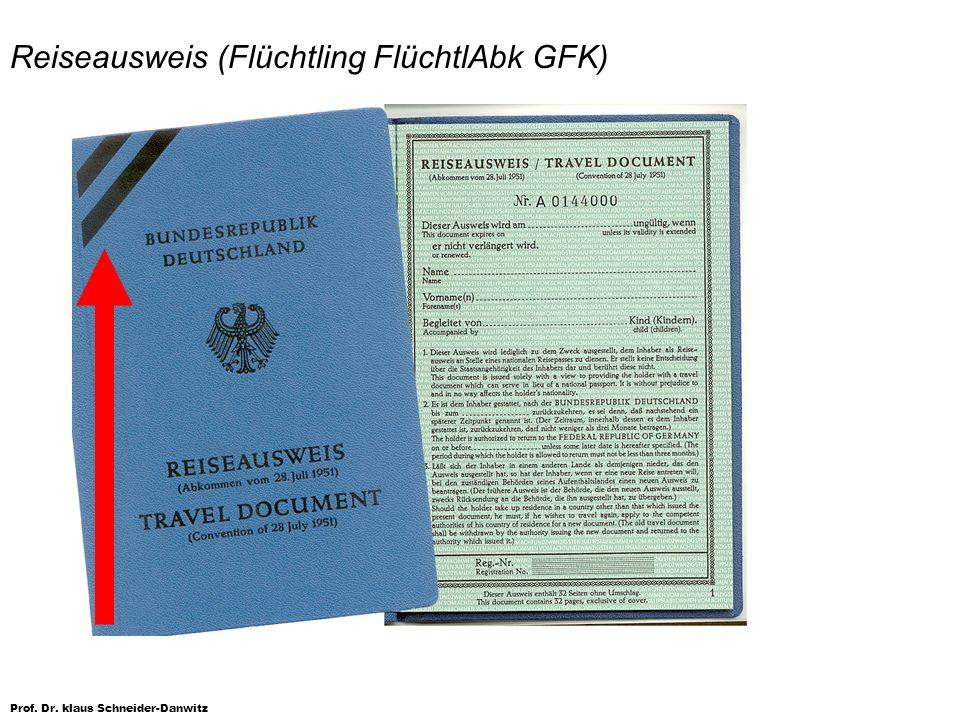 Reiseausweis (Flüchtling FlüchtlAbk GFK)