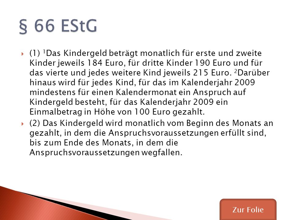 § 66 EStG