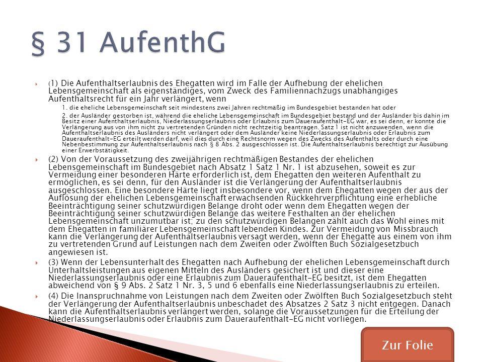§ 31 AufenthG