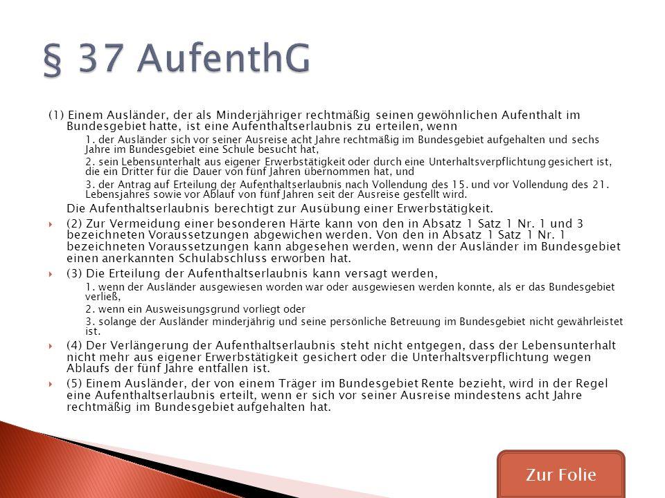 § 37 AufenthG