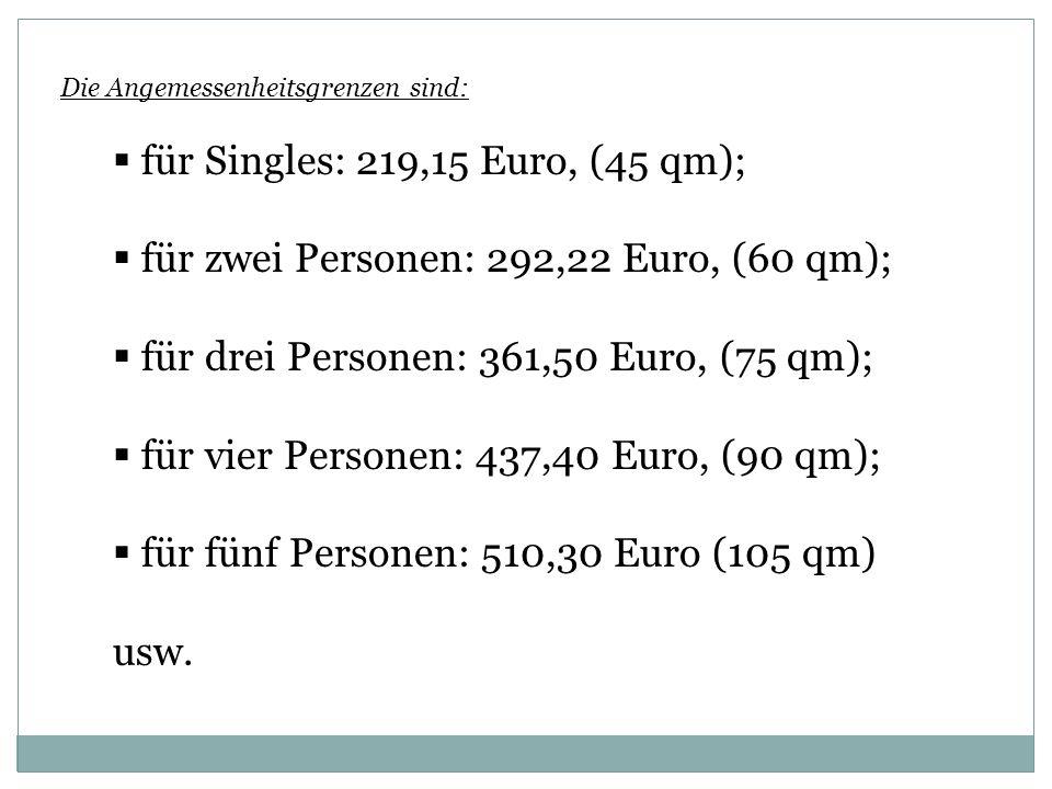für Singles: 219,15 Euro, (45 qm);