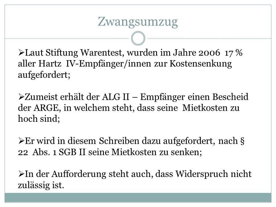 Zwangsumzug Laut Stiftung Warentest, wurden im Jahre 2006 17 %