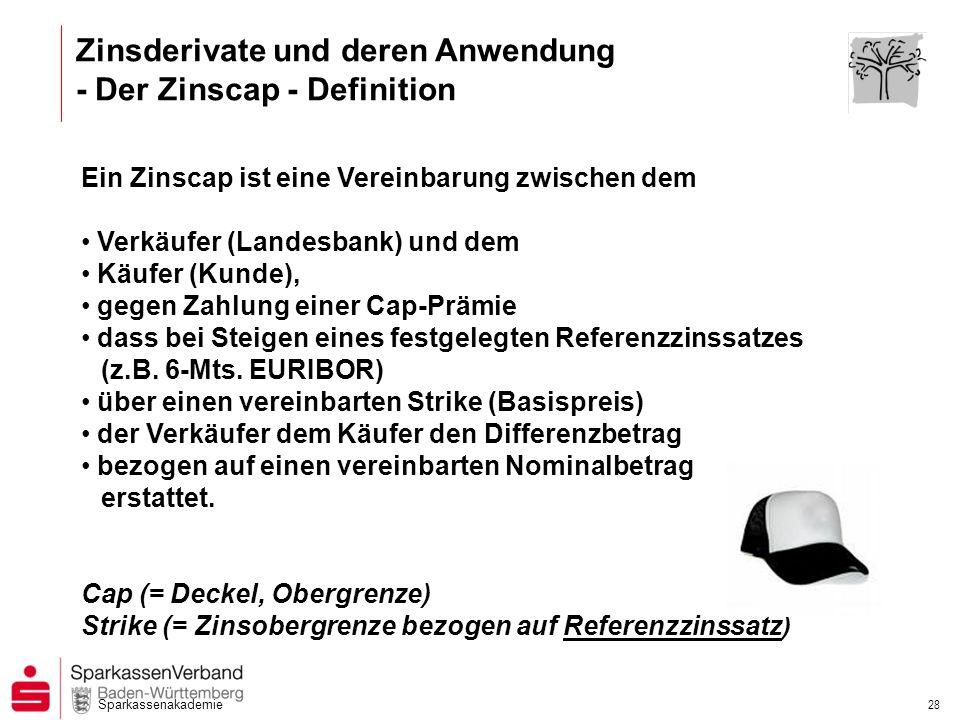 Zinsderivate und deren Anwendung - Der Zinscap - Definition