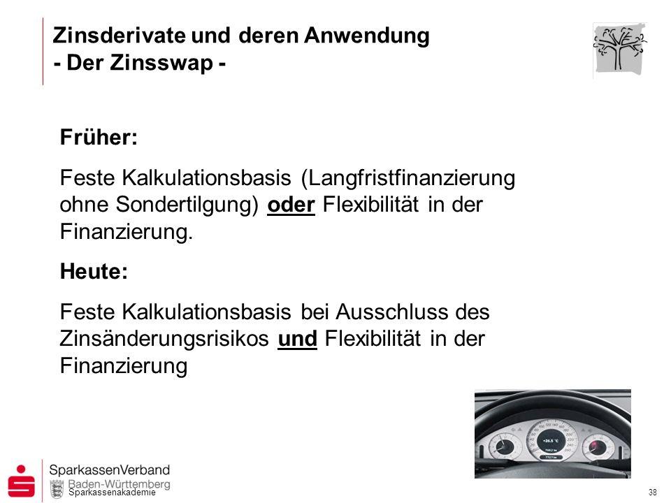 Zinsderivate und deren Anwendung - Der Zinsswap -