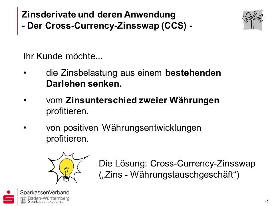 Zinsderivate und deren Anwendung - Der Cross-Currency-Zinsswap (CCS) -
