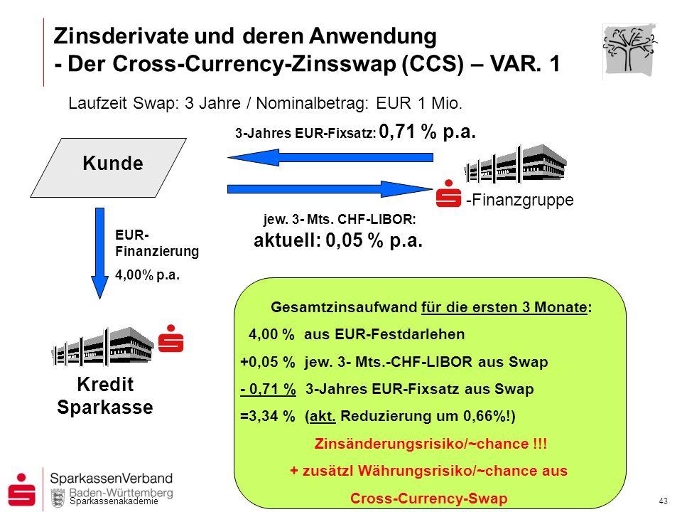 Zinsderivate und deren Anwendung - Der Cross-Currency-Zinsswap (CCS) – VAR. 1