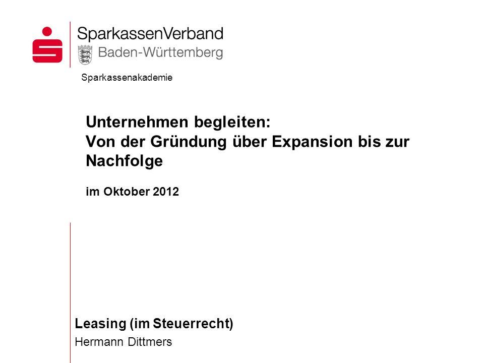 Leasing (im Steuerrecht) Hermann Dittmers