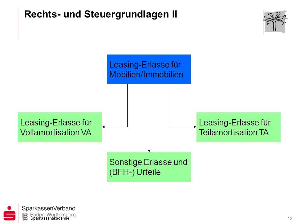 Rechts- und Steuergrundlagen II