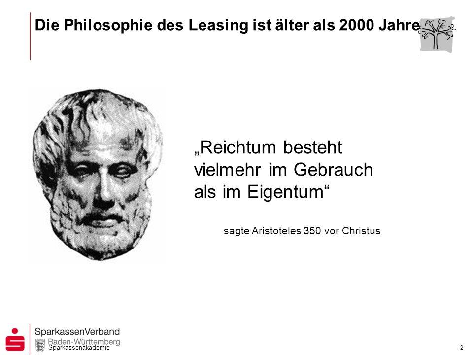 Die Philosophie des Leasing ist älter als 2000 Jahre