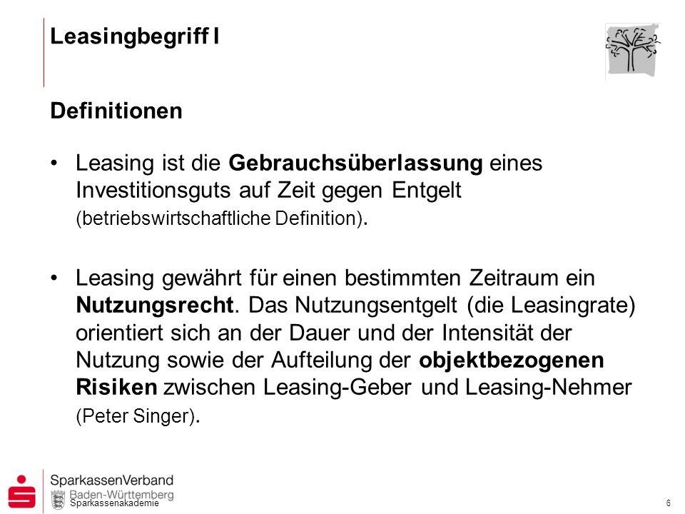 Leasingbegriff I Definitionen.