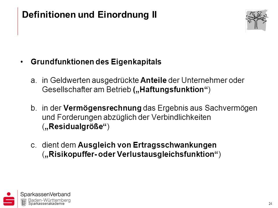 Definitionen und Einordnung II