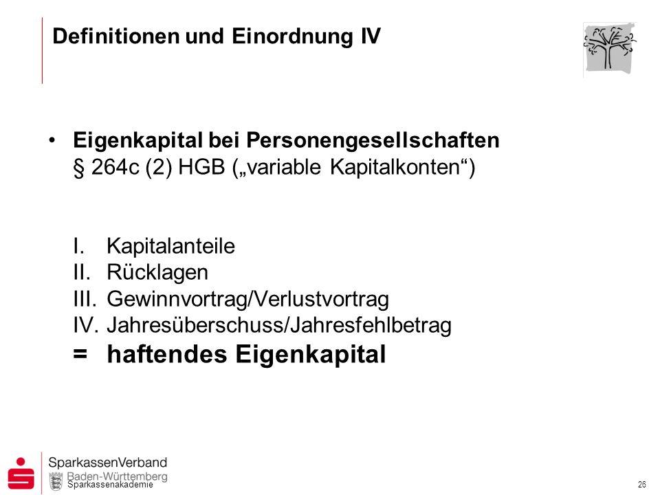 Definitionen und Einordnung IV