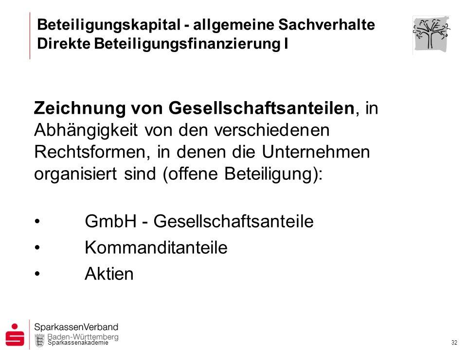 GmbH - Gesellschaftsanteile Kommanditanteile Aktien