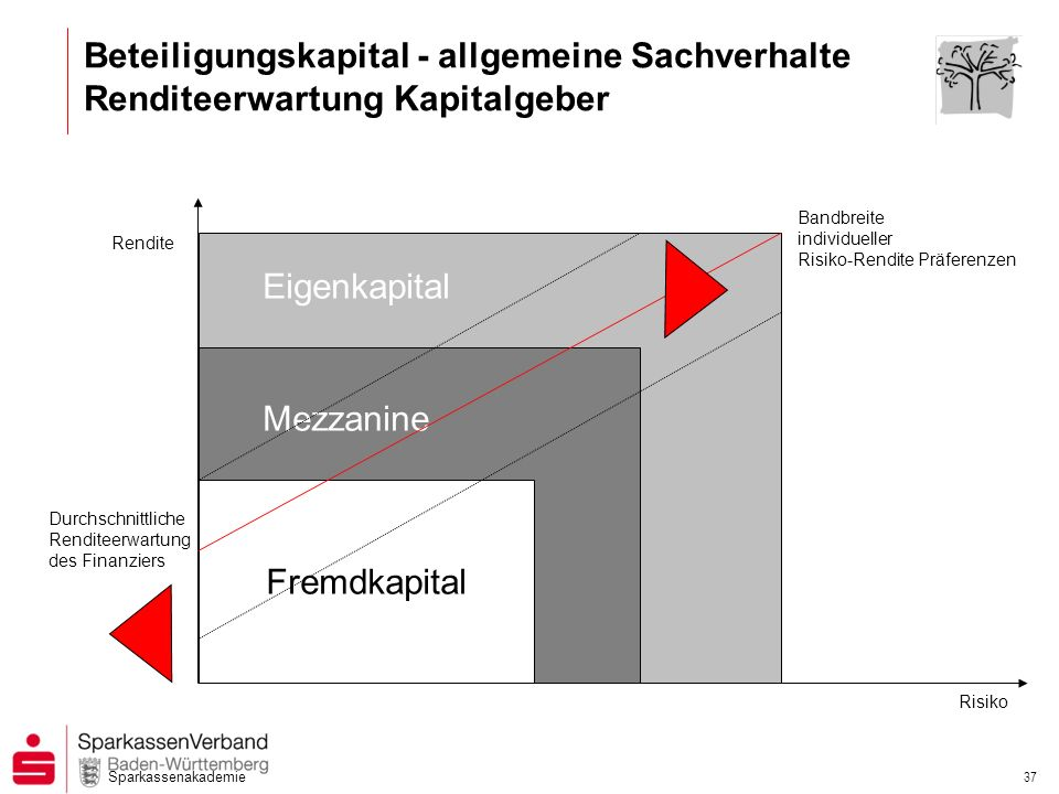 Beteiligungskapital - allgemeine Sachverhalte Renditeerwartung Kapitalgeber