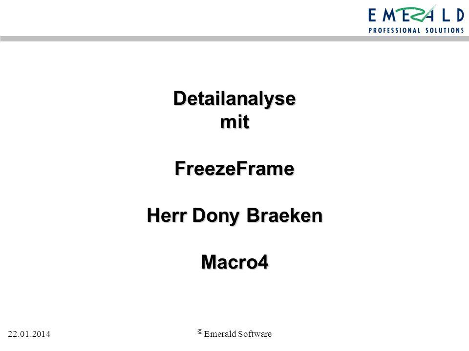 Detailanalyse mit FreezeFrame Herr Dony Braeken Macro4