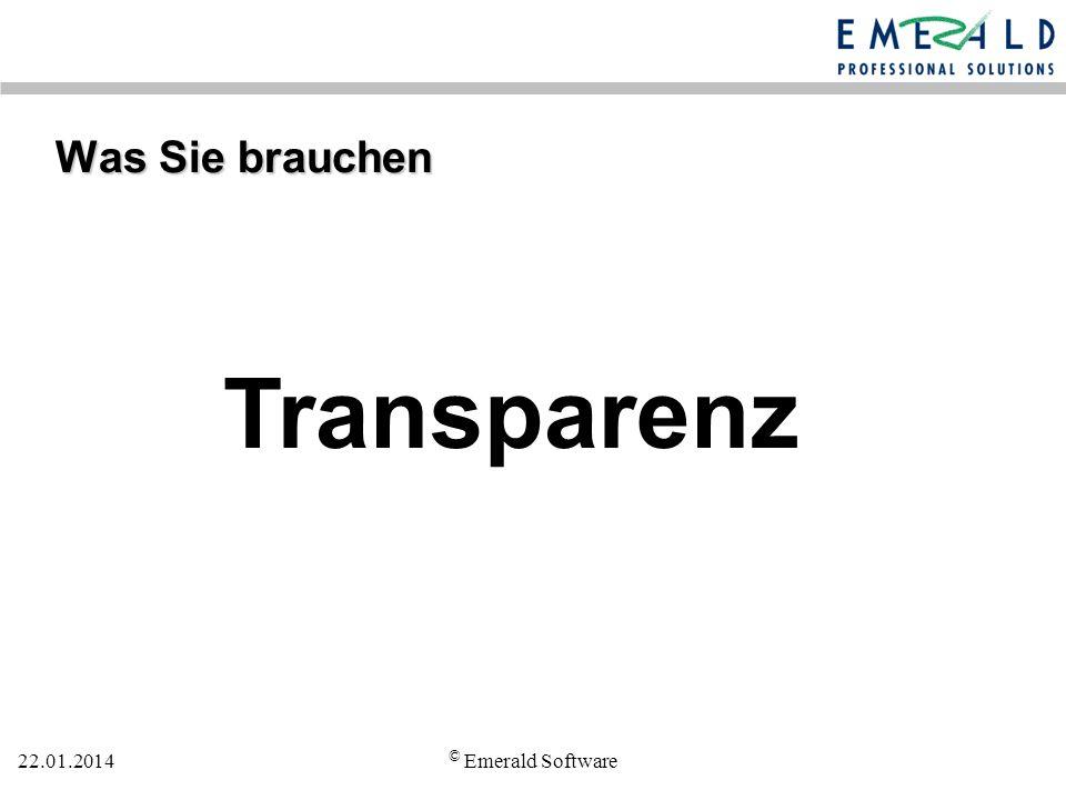 Transparenz Was Sie brauchen © Emerald Software 27.03.2017