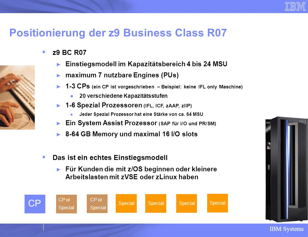 Positionierung der z9 Business Class R07