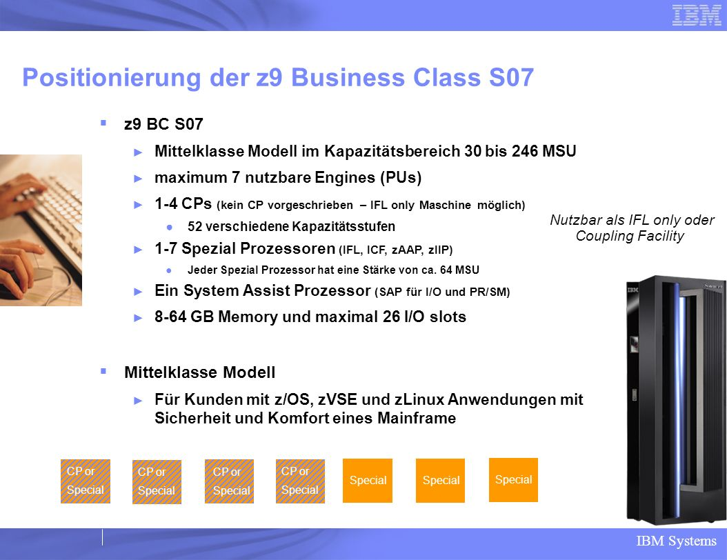 Positionierung der z9 Business Class S07