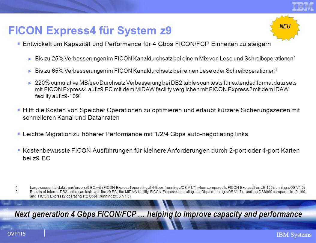 FICON Express4 für System z9