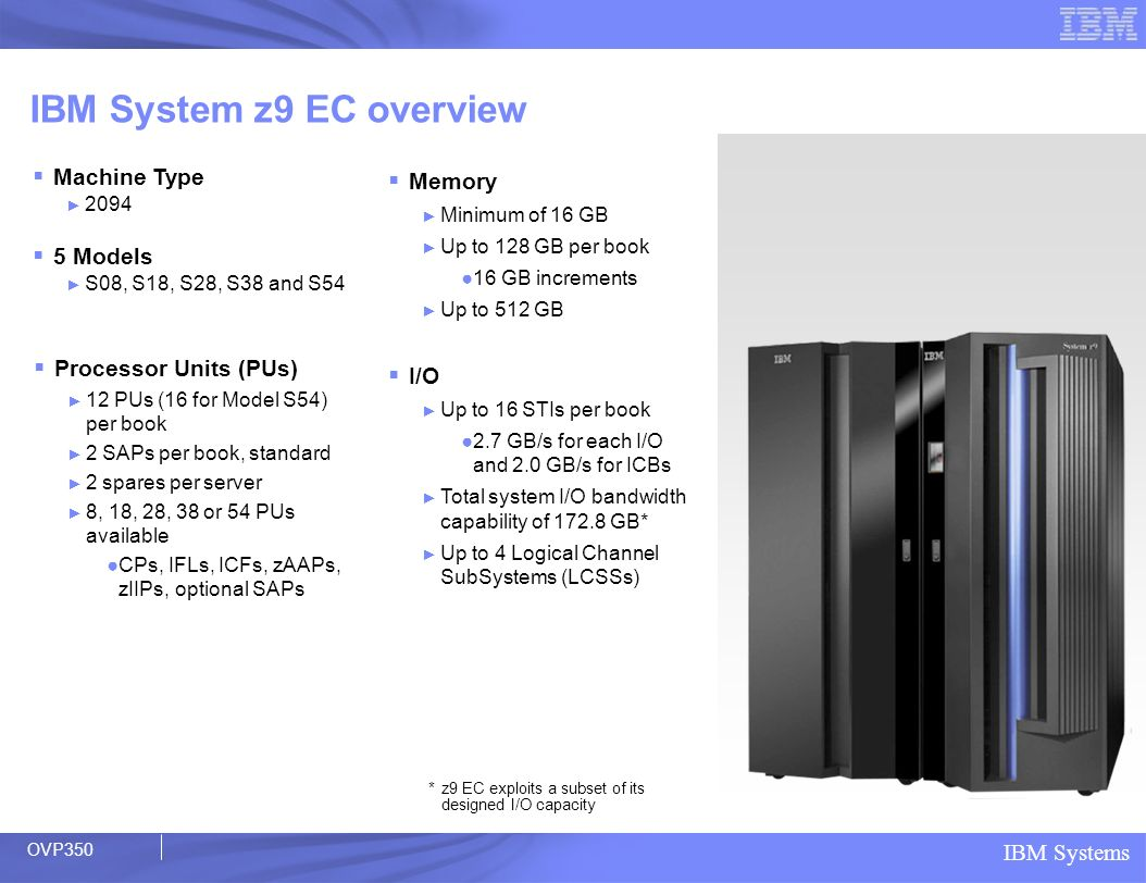 IBM System z9 EC overview