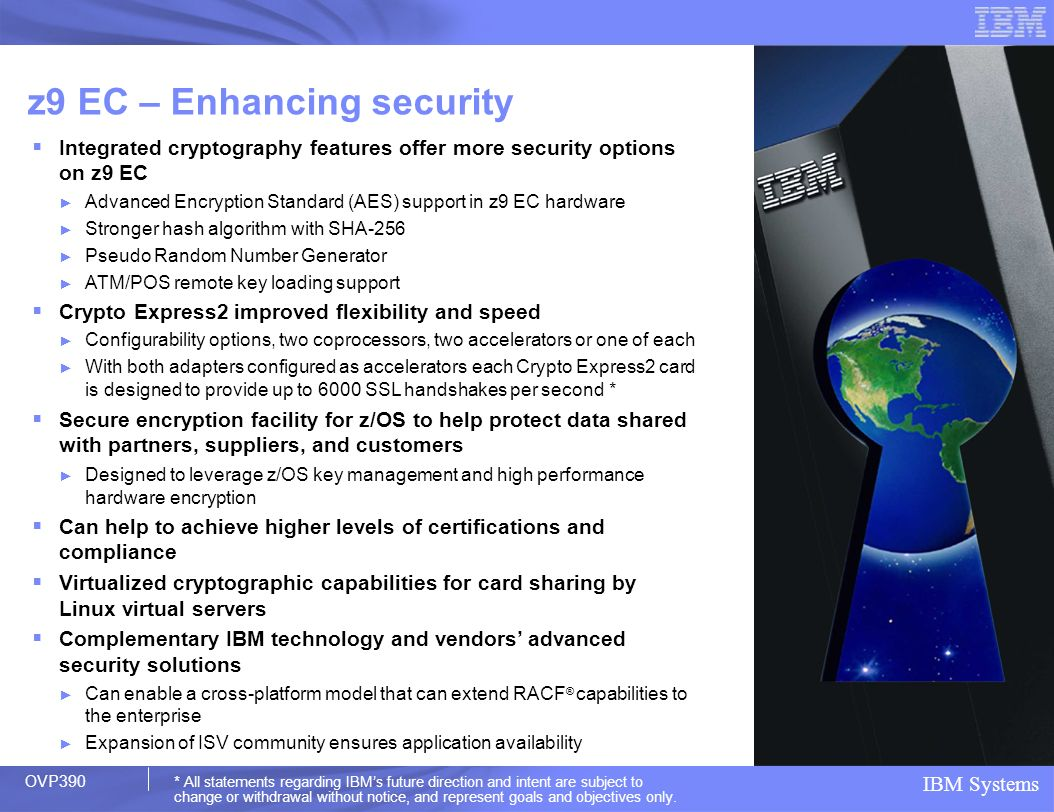 z9 EC – Enhancing security