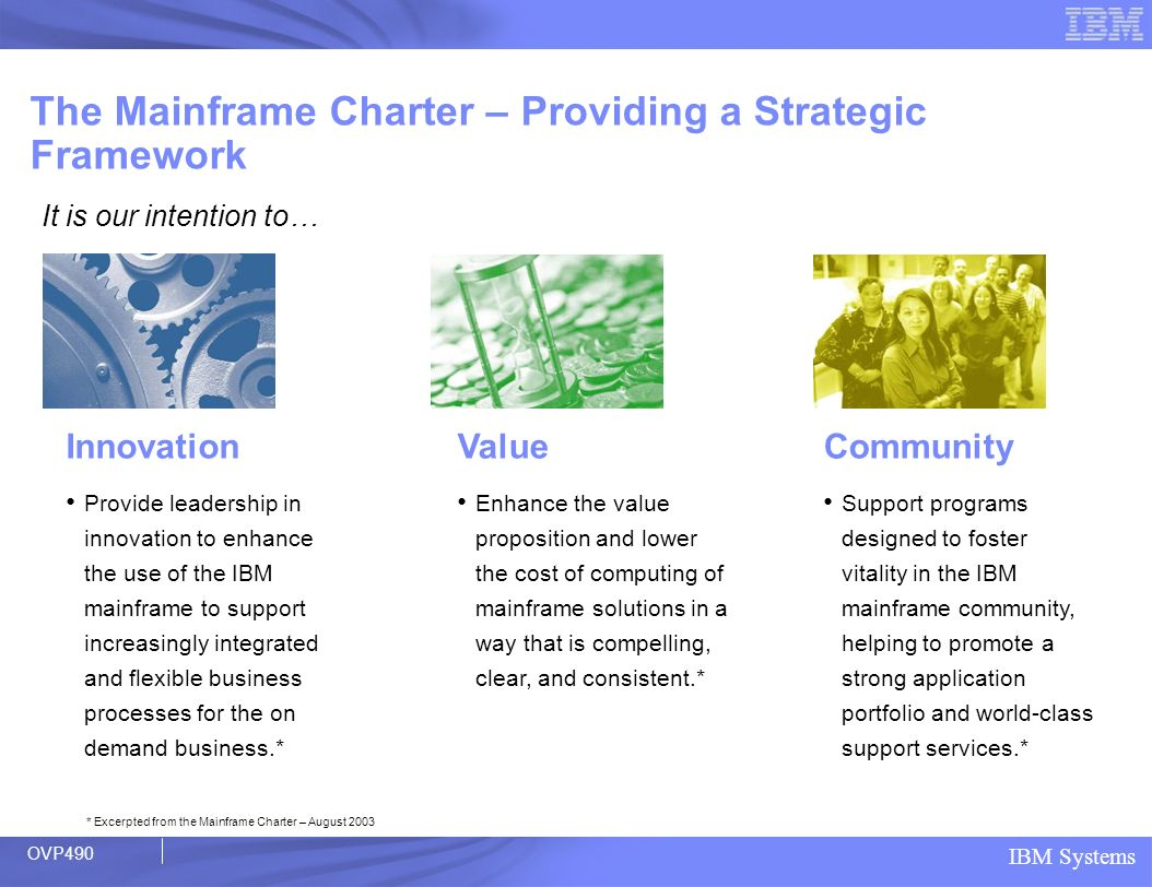 The Mainframe Charter – Providing a Strategic Framework