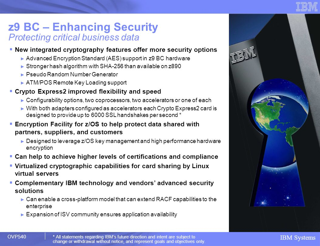 z9 BC – Enhancing Security Protecting critical business data