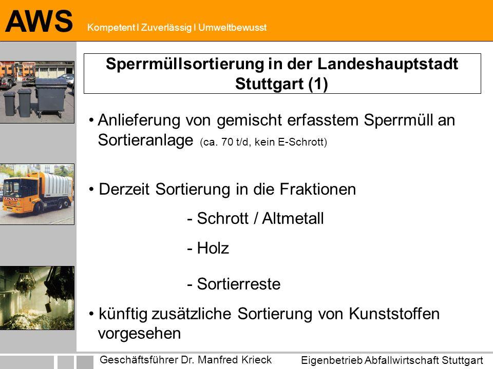 Sperrmüllsortierung in der Landeshauptstadt Stuttgart (1)