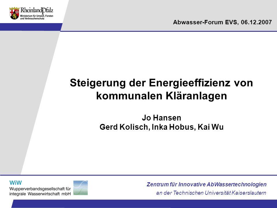 Steigerung der Energieeffizienz von kommunalen Kläranlagen