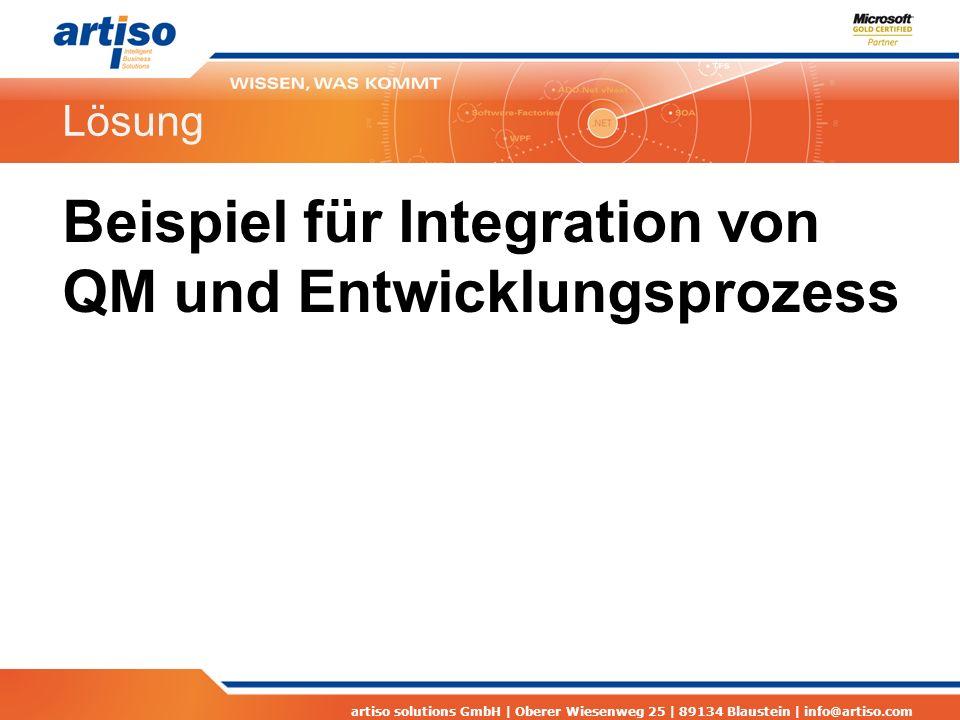 Beispiel für Integration von QM und Entwicklungsprozess