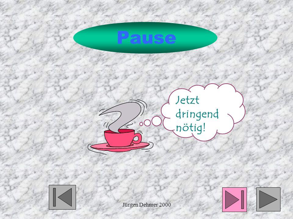 Pause Jetzt dringend nötig! Jürgen Dehmer 2000