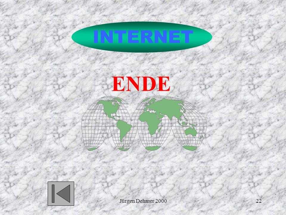 INTERNET ENDE Jürgen Dehmer 2000